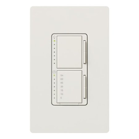 Dimmer Switch Timer - Lutron MA-L3T251-WH Maestro 300 Watt Single Pole Dimmer And Timer Switch, White