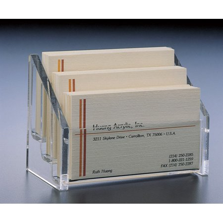 3 Tier Business Card Holder Display Stand, 3 Tier Business Card Holder 4.00 x 2-1/4 x 3.00