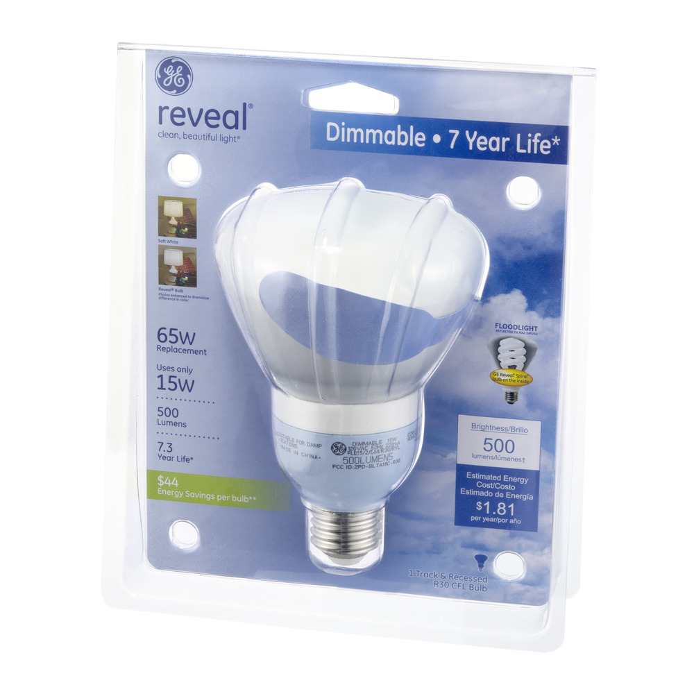 Ge reveal 15w dimmable compact fluorescent flood light bulb ge reveal 15w dimmable compact fluorescent flood light bulb walmart aloadofball Image collections