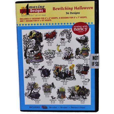 Amazing Designs Bewitching Halloween 36 Designs CD ROM](Halloween Rom)