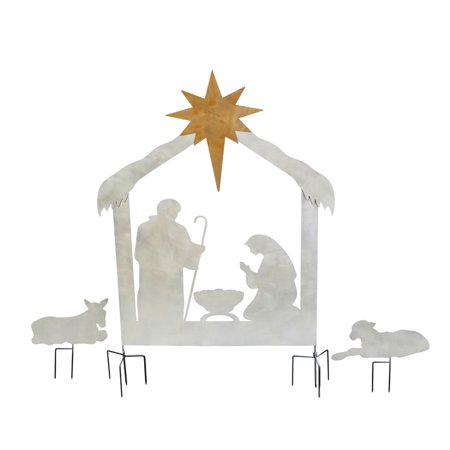 3-pc Nativity Laser Cut Metal Yard Scene](Nativity Yard Sets)