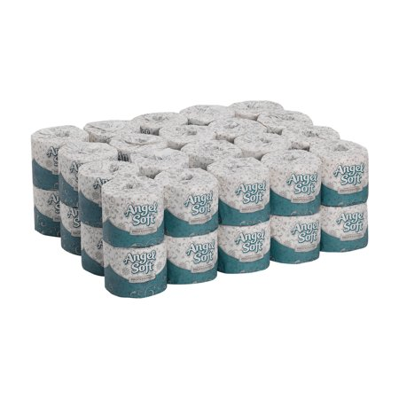Georgia-Pacific Angel Soft Professional Series® Premium 2-Ply Embossed Toilet Paper, 16840, 450 Sheets per Roll, 40 Rolls per Case
