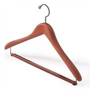 "Suit Hanger with Lock Bar - Single (Cherry) (10 1/4""H x 17""W)"