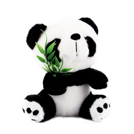 TMISHION Super Soft 15cm Plush Cute Panda with Bamboo Bear Stuffed Panda Doll Toy for Kids Gift
