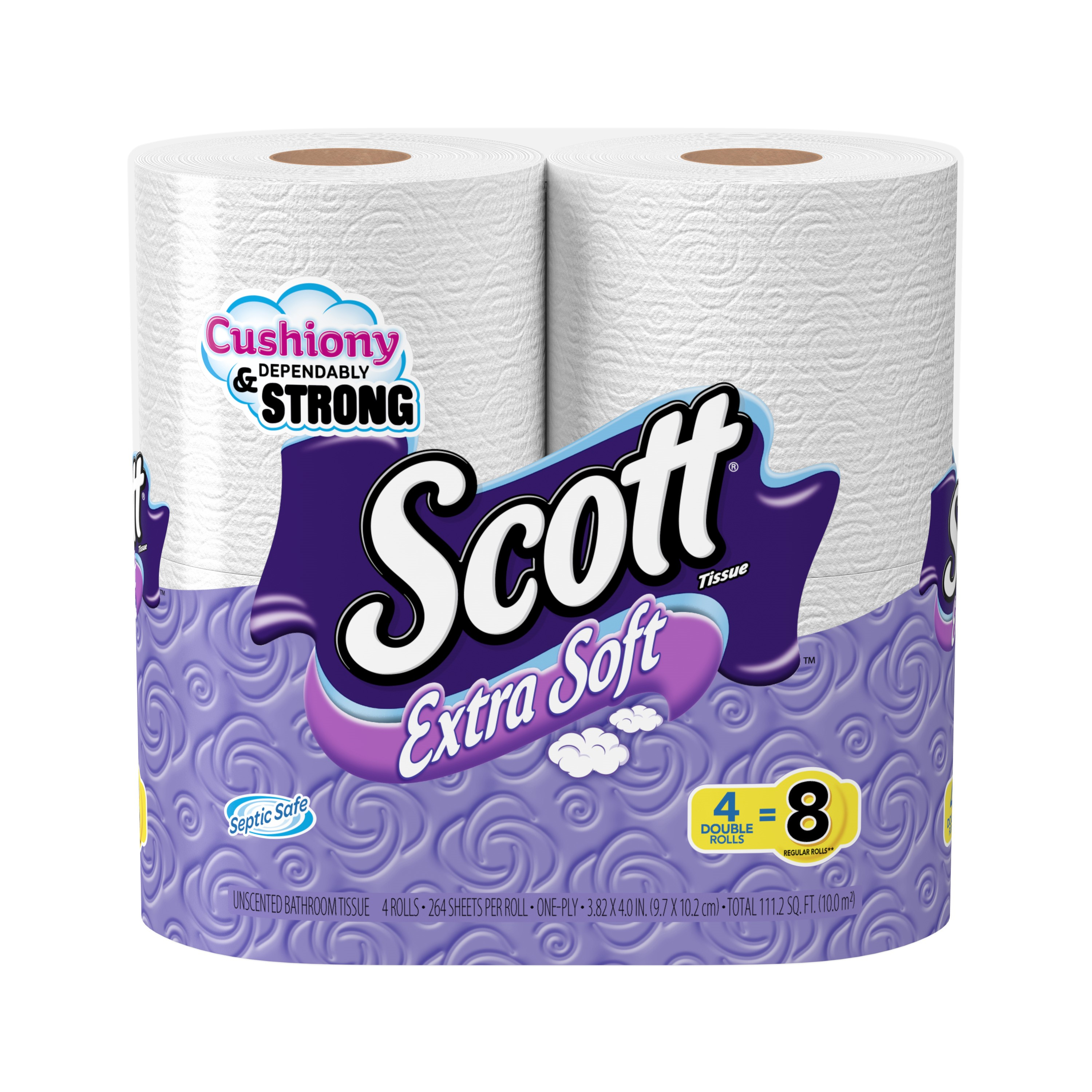 Scott Toilet Paper, Extra Soft, 4 Double Rolls
