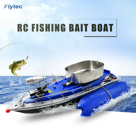 Flytec Intelligent Wireless Electric RC Fishing Bait Boat Remote Control Fish Finder Ship Searchlight