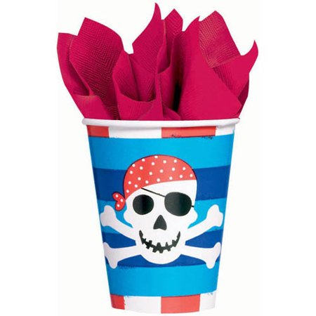 Pirate Party 'Pirates Treasure' 9oz Paper Cups (8ct) (Pirate Paper)
