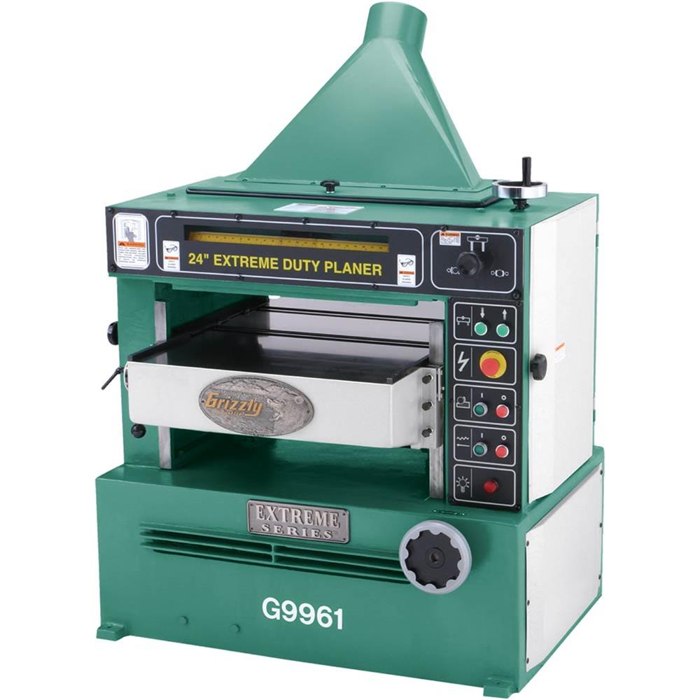 """Grizzly G9961 24"""" Industrial Planer w  Spiral Cutterhead by"""
