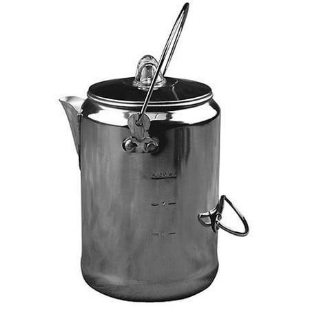 Camping 9-Cup Rust Resistant Aluminum Coffee Pot Maker
