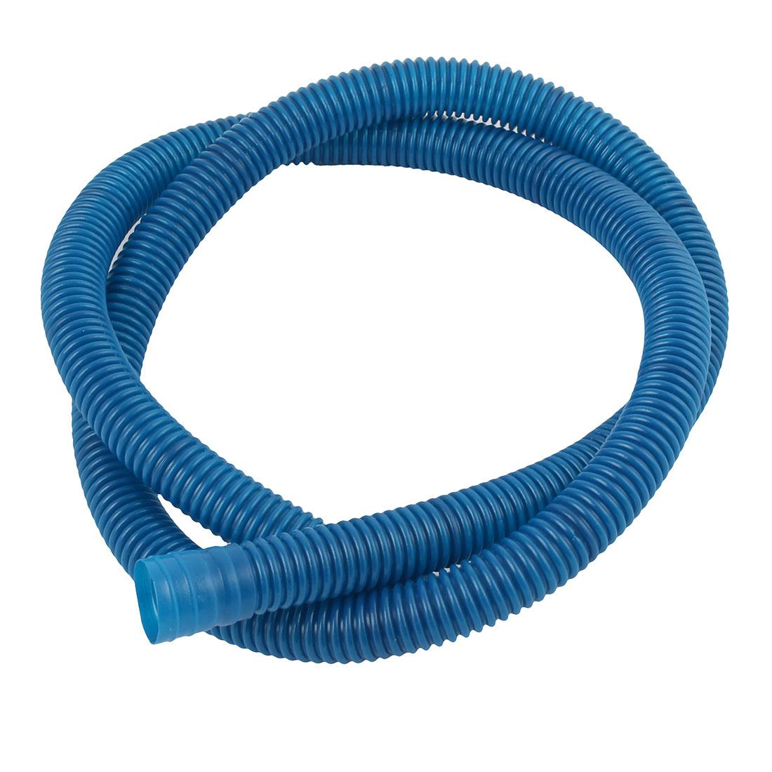 Plastic 1.12 Meters Insulation Elastic Connecting Air Conditioner Hose Tube Blue