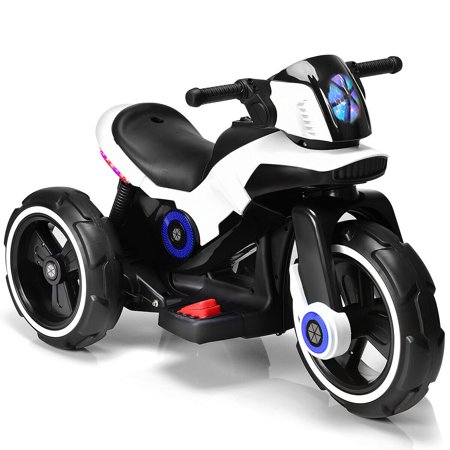 Costway Kids Ride on Motorcycle 6V Bicycle 3 Wheels Electric Battery Powered Toy w/