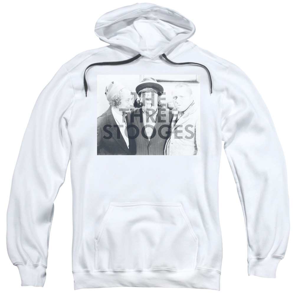 The Three Stooges Cutoff Mens Pullover Hoodie