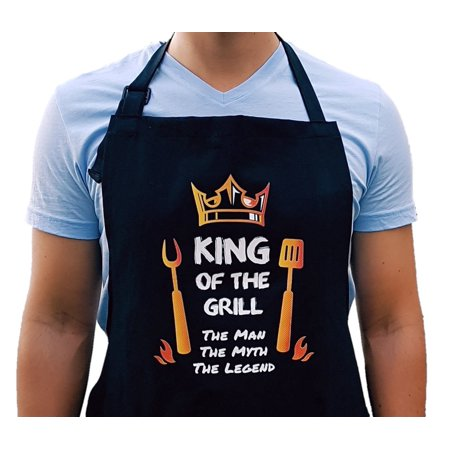 Super Colorful King Of The Grill Apron Aprons For Men Funny BBQ Your Accessories