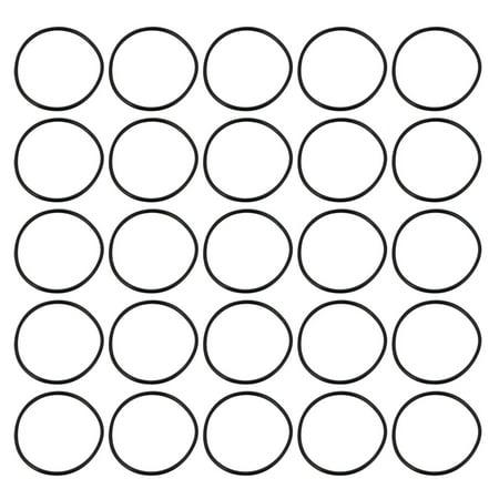 25pcs 36mm noir 1.5mm Dia Ext épaisseur bague étanchéité caoutchouc synthétique - image 2 de 2