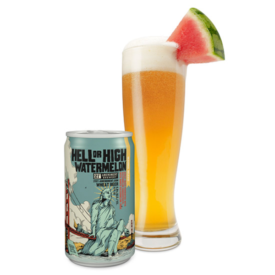 Image of 21st Amendment Hell or High Watermelon Wheat Beer, 6 pack, 12 fl oz