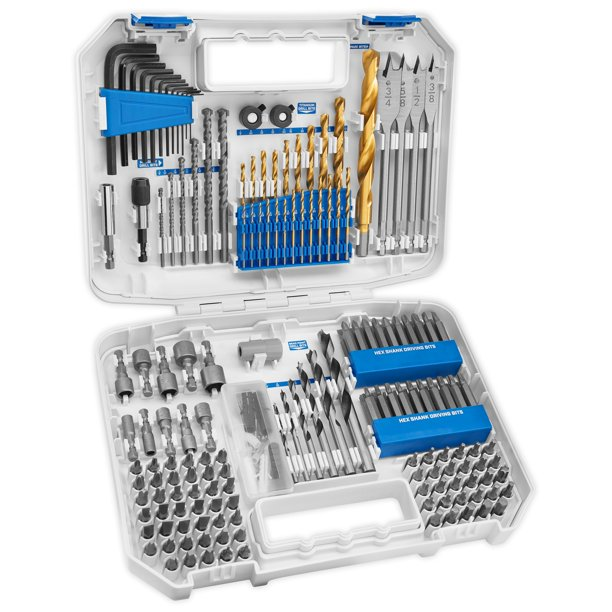 HART 200-Piece Assorted Drill and Drive Bit Set with Storage Case - Walmart.com - Walmart.com