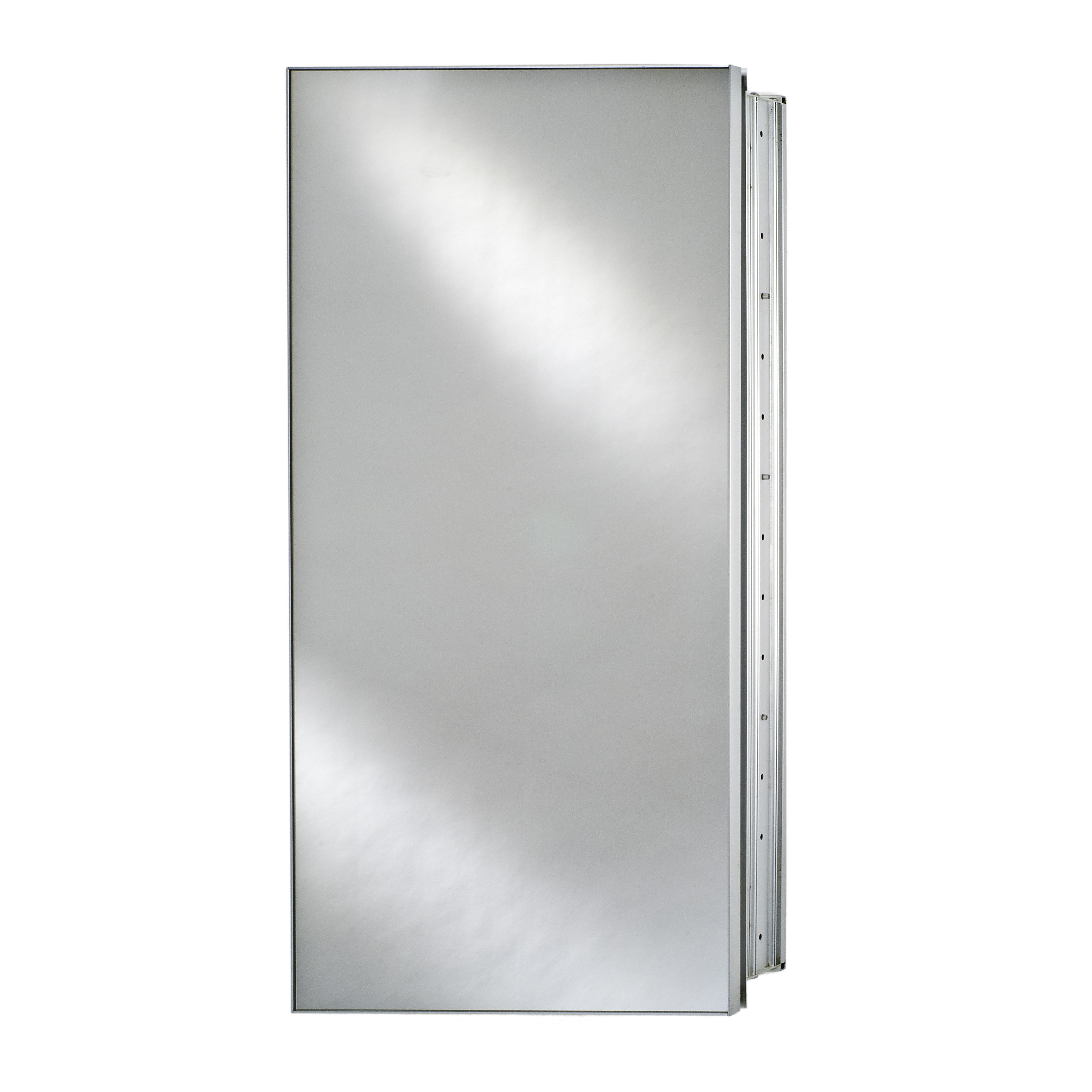 Afina Broadway Surface Mount Single Door Medicine Cabinet - 15W x 4D x 19H in.