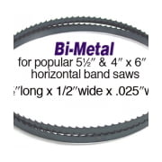 "Olson Saw BI-Metal Band Saw Blade 1/2 by .025 inch, 10/14 VARI 64-1/2"""