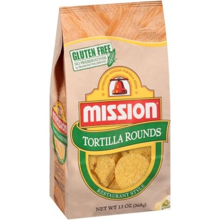 Mission Chips, Yellow Round, 13 Oz
