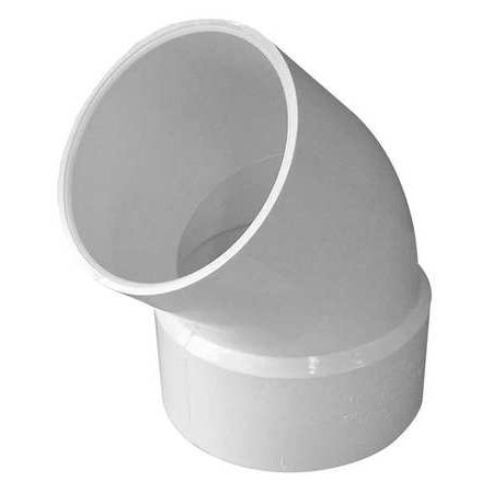 GENOVA Street Elbow, 45 Degrees, PVC, 3in. 42730