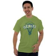 Nerd Short Sleeve T-Shirt Tees Tshirts Einstein Genius Funny Smart Scientific Gift