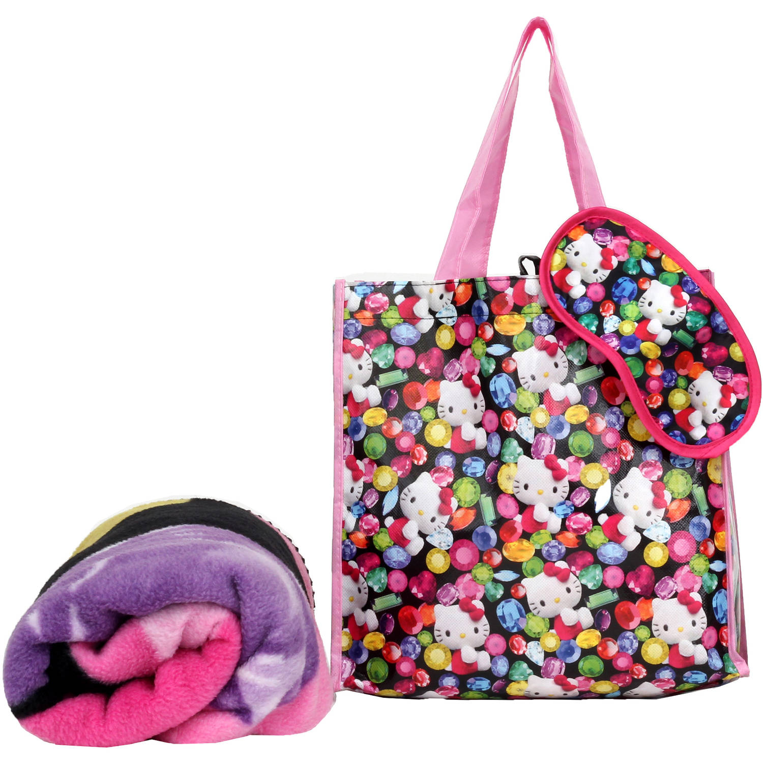 Hello Kitty Throw on The Go Pillow and Throw Set