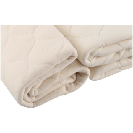 American Baby Company Waterproof Quilted Lap and Burp Pad Cover made with Organic Cotton, Natural Color, 2