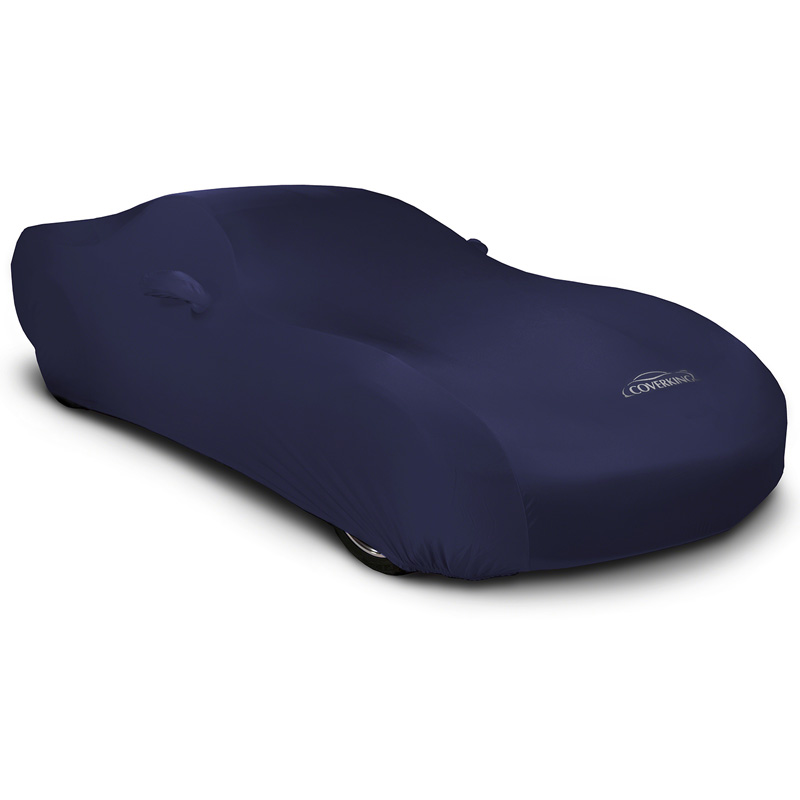 CUSTOM VEHICLE COVER SATIN STRETCH DARK BLUE CLASS 3 FOR PLY