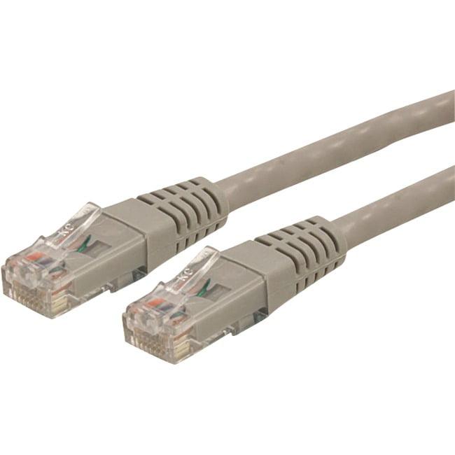 StarTech Patch cable RJ-45 M RJ-45 M 1 ft  CAT 6  Gray C6PATCH1GR