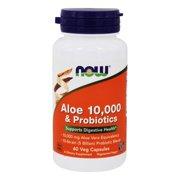 NOW Foods - Aloe 10,000 & Probiotics 5 Billion CFU - 60 Vegetarian Capsules
