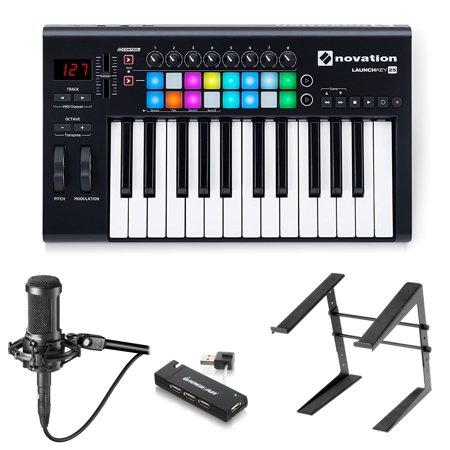 Novation Launchkey 25 Key USB MIDI Keyboard Controller and Audio-Technica