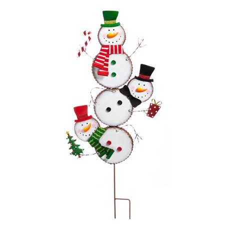 - Evergreen Enterprises, Inc Snowman Totem Garden Stake
