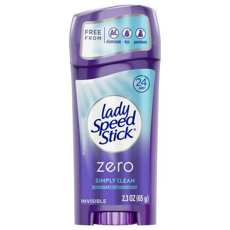 Lady Speed Stick Zero Deodorant Stick, Simply
