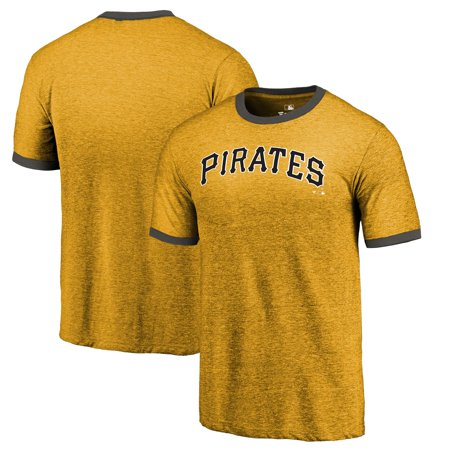 huge discount e101f 3d25d Pittsburgh Pirates Fanatics Branded Refresh Ringer Team Wordmark T-Shirt -  Gold