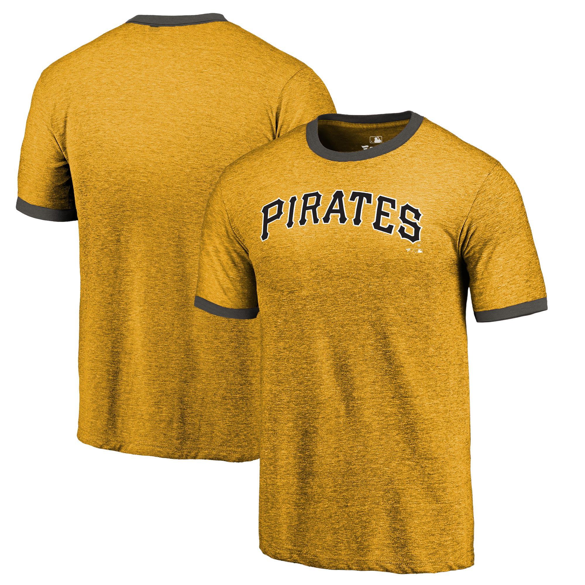Pittsburgh Pirates Fanatics Branded Refresh Ringer Team Wordmark T-Shirt - Gold