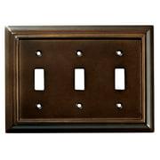 Brainerd (126344) Triple Switch Wallplate, Espresso