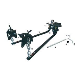 Camco EAZ-Lift 48113 Spring Bar Lock Repair Kit-Bag