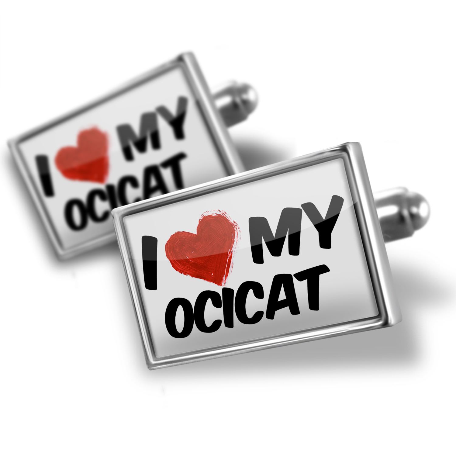 Cufflinks I Love my OciCat from United States - NEONBLOND