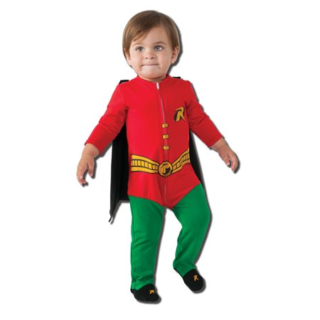 Infant Batman Robin Onesie Costume by Rubies - Superhero Toddler