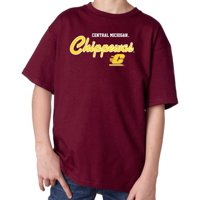 J2 Sport Central Michigan Chippewas NCAA Machine Script Youth T-shirt