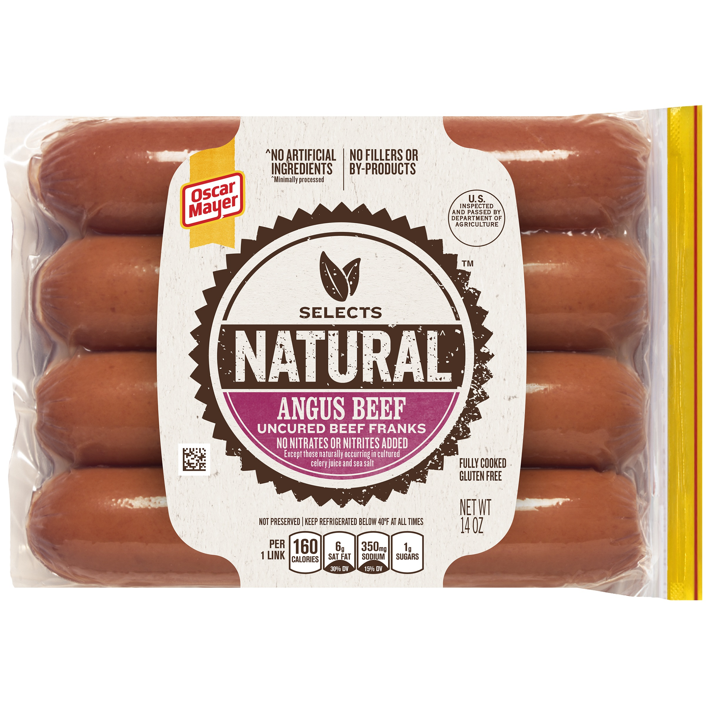 Oscar Mayer Selects Angus Beef Franks, 14 oz Vacuum Pack