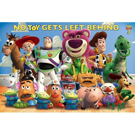 Collectible Vinyl Toy Story 3 Cast Poster - 36x24 - Toy Story Room Decor