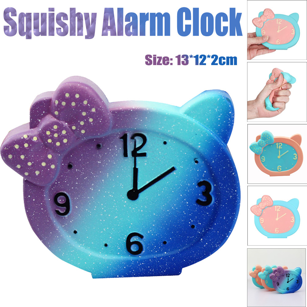 Squeeze Alarm Clock Squishy Slow Rising Decompression Toys Easter BU