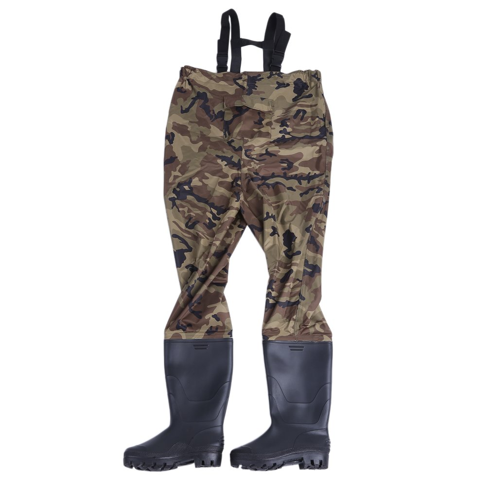 Camouflage Rafting Wear Men Waterproof Stocking Foot Breathable Chest Wader For Outdoor Hunting Fly Fishing by