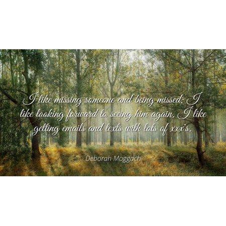 Deborah Moggach Famous Quotes Laminated Poster Print 24x20 I