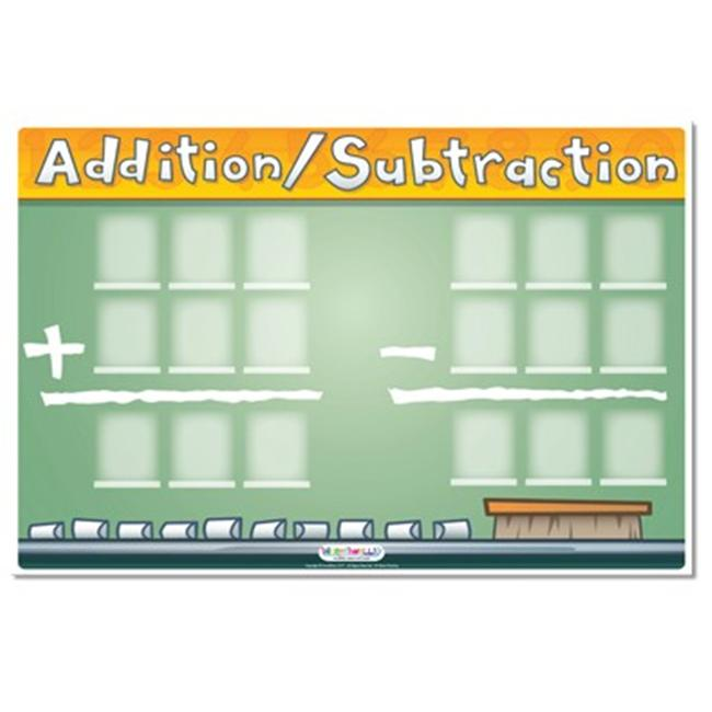 Incrediline W-0020-1824 Add It Up Math Sheet Mural - Incrediwall - 24 Inches x 18 Inches
