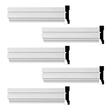 Crown Molding White Urethane Cherbourg Design 5 Pieces Totaling 480 L