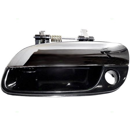 - Drivers Front Outside Door Handle Black Housing w/ Chrome Lever & Keyhole Replacement for Hyundai Elantra 82650-2D500