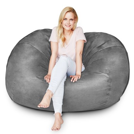 Surprising Lumaland Luxury 5 Foot Bean Bag Chair With Microsuede Cover Creativecarmelina Interior Chair Design Creativecarmelinacom