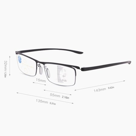 Progressive multi-focus metal solderless point automatic zoom reading glasses - image 8 of 10